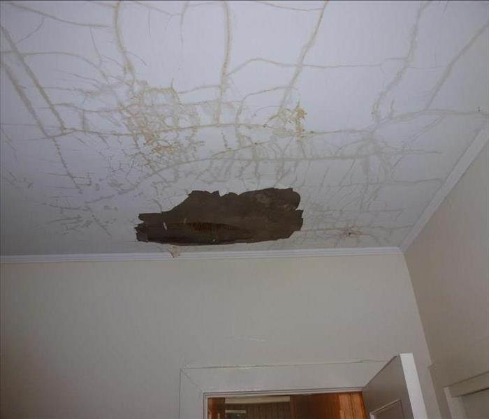 Storm Collapses Ceiling  Before