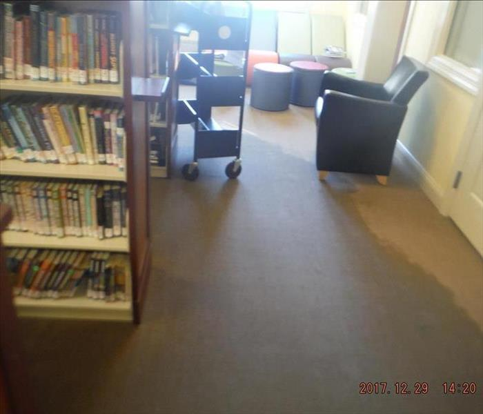 Flooding in the local public library