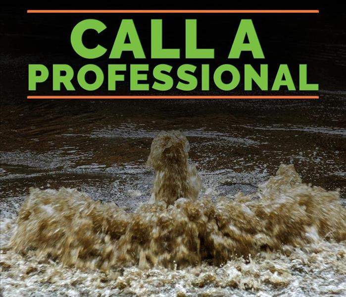 Call a Professional- water damage
